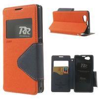 Okýnkové pouzdro na mobil Sony Xperia Z1 Compact - oranžové