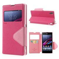 Okýnkové pouzdro na mobil Sony Xperia Z1 - rose