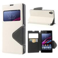 Okýnkové pouzdro na mobil Sony Xperia Z1 - bílé