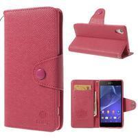 Štýlové Peňaženkové puzdro pre Sony Xperia Z2 - rose