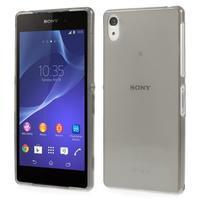 Ultratenký slim gélový obal pre mobil Sony Xperia Z2 - sivý