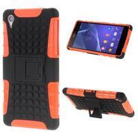 Outdoor odolný kryt na mobil Sony Xperia Z2 - oranžový