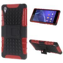 Outdoor odolný kryt pre mobil Sony Xperia Z2 - červený