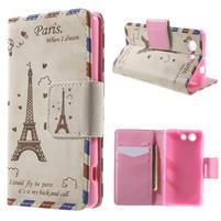Pictu Peňaženkové puzdro pre Sony Xperia Z3 Compact - Eiffelova veža