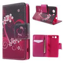 Pictu Peňaženkové puzdro pre Sony Xperia Z3 Compact - srdce
