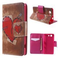 Pictu Peňaženkové puzdro pre Sony Xperia Z3 Compact - zlomené srdce