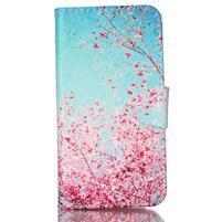 Emotive knížkové puzdro pre Sony Xperia Z3 Compact - kvitnúce slivka