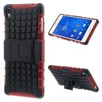Outdoor ochranný kryt pre mobil Sony Xperia Z3 - červený
