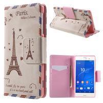 Emotive Peňaženkové puzdro pre Sony Xperia Z3 - Eiffelova veža