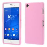 Silikónový obal pre mobil Sony Xperia Z3 - ružový