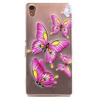 Gélový obal pre mobil Sony Xperia Z3 - motýľkové