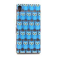 Gélový obal pre mobil Sony Xperia Z3 - modré malej sovy