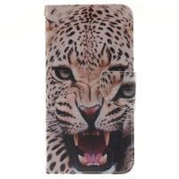 Patt peňaženkové puzdro pre Samsung Galaxy A3 (2016) - leopard se zoubky