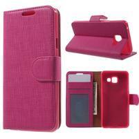 Cloth peňaženkové puzdro pre mobil Samsung Galaxy A3 (2016) - rose