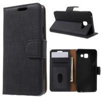 Cloth peněženkové pouzdro na mobil Samsung Galaxy A3 (2016) - černé