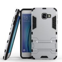 Outdoor odolný kryt pre mobil Samsung Galaxy A3 (2016) - strieborny