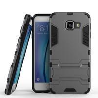 Outdoor odolný kryt pre mobil Samsung Galaxy A3 (2016) - šedý