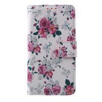 Fun peněženkové pouzdro na Samsung Galaxy A3 (2016) - květiny