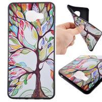 Terry gelový obal na Samsung Galaxy A3 (2016) - malovaný strom