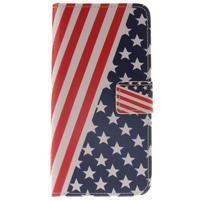 Puzdro na mobil Samsung Galaxy A3 (2016) - US vlajka