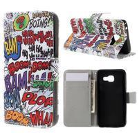 Standy peňaženkové puzdro pre Samsung Galaxy A3 (2016) - grafity