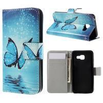 Standy peňaženkové puzdro pre Samsung Galaxy A3 (2016) - motýl