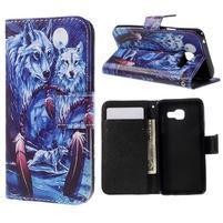 Standy peňaženkové puzdro pre Samsung Galaxy A3 (2016) - vlci