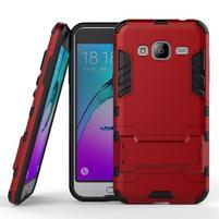Outdoor odolný obal pre Samsung Galaxy J3 (2016)- červené