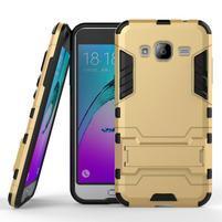 Outdoor odolný obal pre Samsung Galaxy J3 (2016)- zlaté
