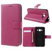 Peňaženkové puzdro pre mobil Samsung Galaxy J3  (2016) - rose