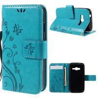 Butterfly pouzdro na mobil Samsung Galaxy Trend 2 Lite - modré