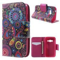 Peňaženkové puzdro pre Samsung Galaxy Trend 2 Lite - farebné kruhy