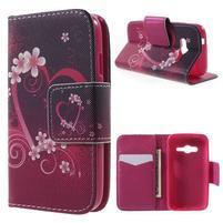 Peňaženkové puzdro pre Samsung Galaxy Trend 2 Lite - srdca