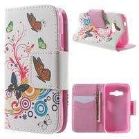 Peňaženkové puzdro pre Samsung Galaxy Trend 2 Lite - motýle