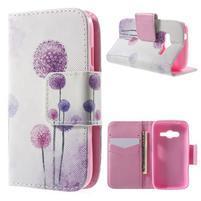 Peňaženkové puzdro pre Samsung Galaxy Trend 2 Lite - púpavy