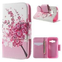 Peňaženkové puzdro pre Samsung Galaxy Trend 2 Lite - kvitnúca vetvička