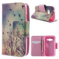 Peňaženkové puzdro pre Samsung Galaxy Trend 2 Lite - vtáčiky