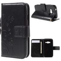Butterfly puzdro pre mobil Samsung Galaxy Trend 2 Lite - čierne