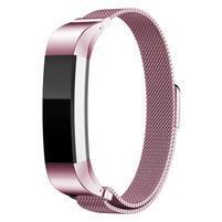 Steel remienok z nerezovej ocele na Fitbit Alta Mesh - ružový