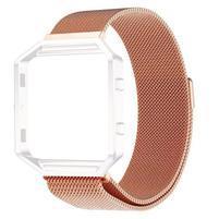 Loop remienok z nerezovej ocele na smart hodinky Fitbit Blaze - rosegold