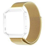 Loop remienok z nerezovej ocele na smart hodinky Fitbit Blaze - zlatý