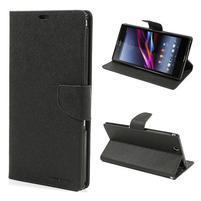Diary PU kožené puzdro pre Sony Z Ultra - čierne