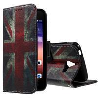 Štýlové puzdro na mobil Huawei Ascend Y550 - UK vlajka