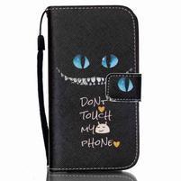 Peňaženkové puzdro pre Samsung Galaxy S4 Mini - do not touch