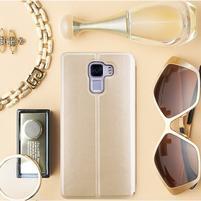 Elegantné PU kožené puzdro pre mobil Huawei Honor 7 - gold