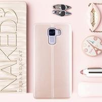 Elegantné PU kožené puzdro pre mobil Huawei Honor 7 - rose gold