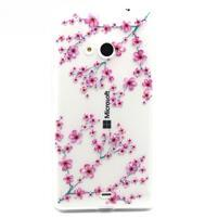 Gélový obal na mobil Microsoft Lumia 535 - květy švestky