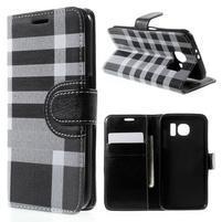 Módní štýlové puzdro na Samsung Galaxy S6 - čierné