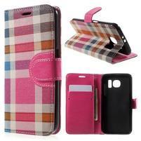 Módní štýlové puzdro na Samsung Galaxy S6 - rose
