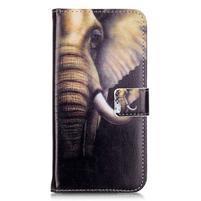 Emotive PU kožené puzdro pre mobil Honor 7 Lite - slon